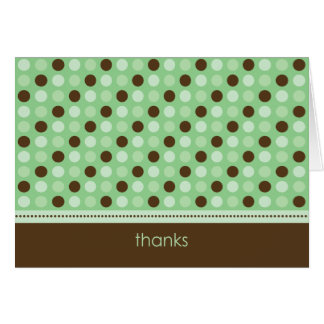 Personalized Baby Polka Dot Thank You Card (mint)