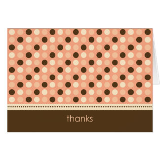 Personalized Baby Polka Dot Thank You Card (peach)