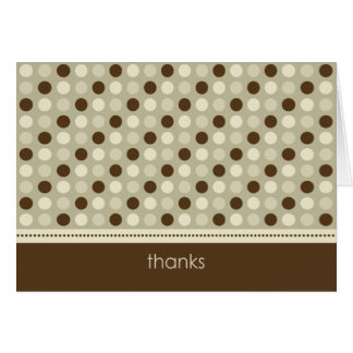 Personalized Baby Polka Dot Thank You Card (taupe)