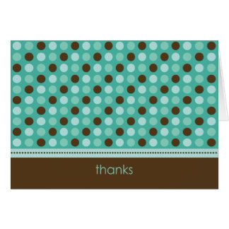 Personalized Baby Polka Dot Thank You Card (teal)