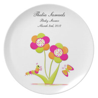 Personalized Baby Shower Plate