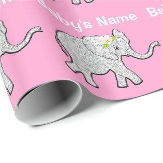 Personalized Baby Shower Wrapping Paper for Girls