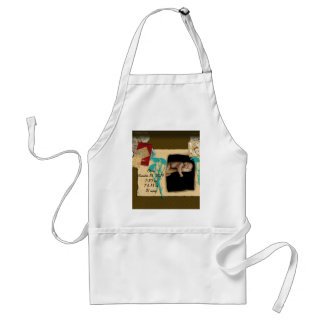 Personalized Baby Stats Photo Collage Standard Apron