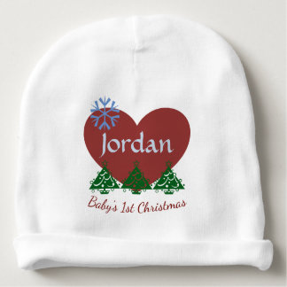 """Personalized """"Baby's First Christmas"""" Baby Hat Baby Beanie"""