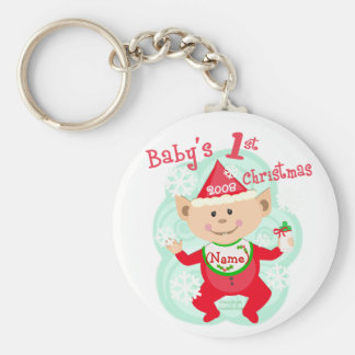 Personalized Baby's First Christmas Keychain