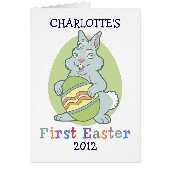Personalized Baby's First Easter Card