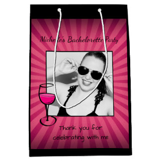 Personalized Bachelorette Frame Medium Gift Bag