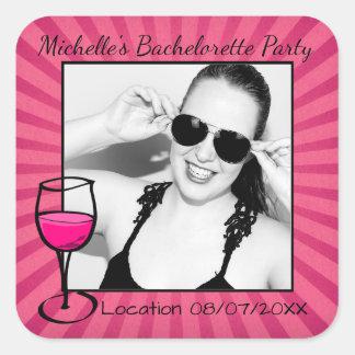 Personalized Bachelorette Frame Square Sticker