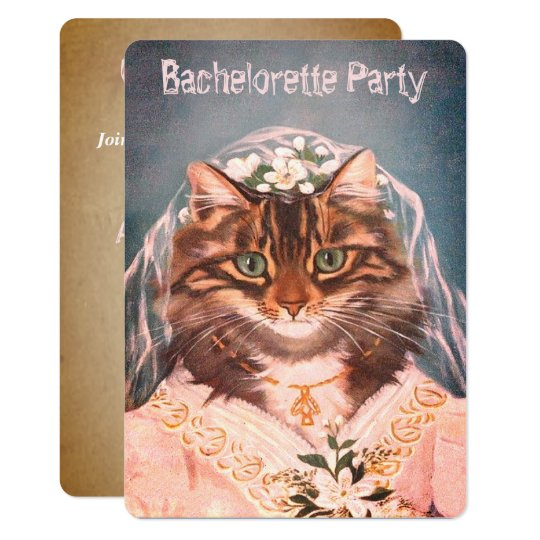 Personalized bachelorette party, bridal shower card