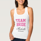 Personalized bachelorette tank tops for team bride