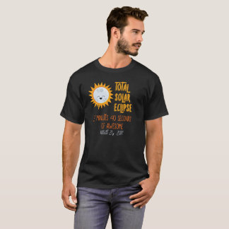 Personalized Back Emoji Total Solar Eclipse Shirt