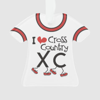 PERSONALIZED Back I heart Cross Country Running XC