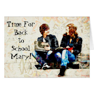 Personalized Back to School Greeting Card