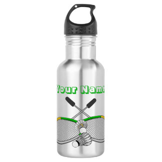 Personalized Badminton Player Crossed Racquets 532 Ml Water Bottle