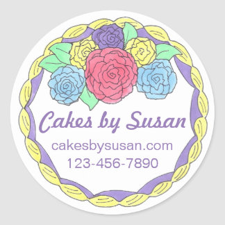 Personalized Baked By Cake Decorating Stickers
