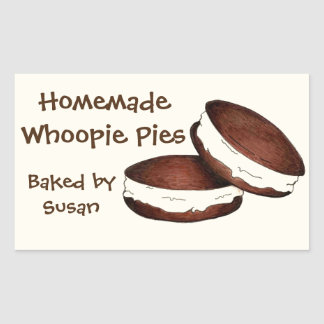 Personalized Baked By Whoopie Pie Baking Stickers