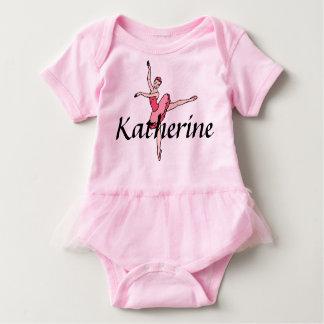 Personalized Ballerina Baby Bodysuit