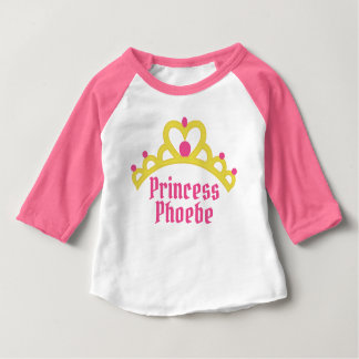 Personalized Ballerina Princess Baby T-Shirt