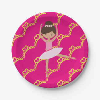 Personalized Ballerina Princess Paper Plate