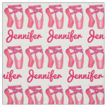 Personalized Ballet Pink Pointe Toe Shoes Dance Fabric
