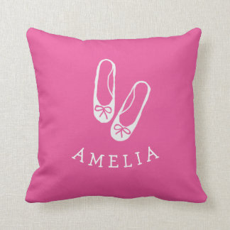 Personalized Ballet shoes Nursery Pillow