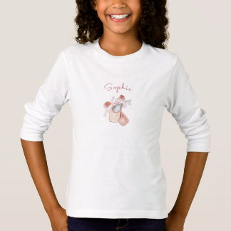 Personalized Ballet Slippers Dance Studio Template T-Shirt
