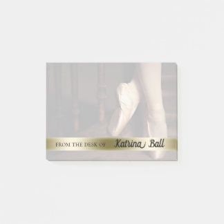 Personalized Ballet Teacher Gift Dance Toe Shoes Post-it Notes