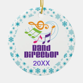 Personalized Band Director Christmas Gift Ceramic Ornament