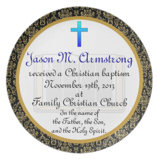 Personalized Baptism Commemorative Plate Plaque