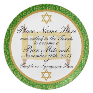 Personalized Bar Mitzvah Keepsake Plate Plaque