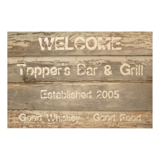 Personalized Bar/Restaurant Business Sign