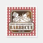 Personalized Barbecue Paper Napkin
