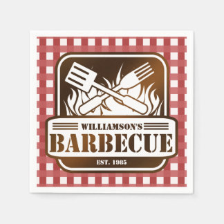 Personalized Barbecue Paper Napkin