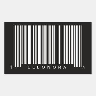 personalized barcode striped design sticker
