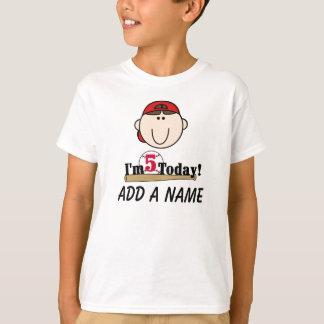 Personalized Baseball 5th Birthday Tshirt