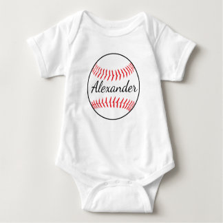 Personalized Baseball Ball Baby Bodysuit