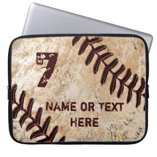 Personalized Baseball Laptop Case, NAME and NUMBER Laptop Computer Sleeves