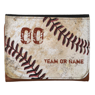 Personalized Baseball Leather Wallet, Faux Leather Leather Wallet