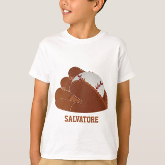 Personalized Baseball Mitt & Ball T-Shirt