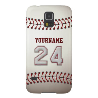 Personalized Baseball Number 24 with Your Name Galaxy S5 Cover