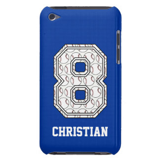 Personalized Baseball Number 8 iPod Touch Cases