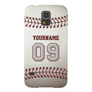 Personalized Baseball Number 9 with Your Name Galaxy S5 Covers