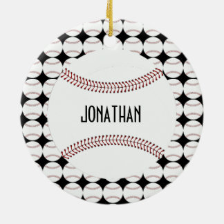 Personalized Baseball Ornament
