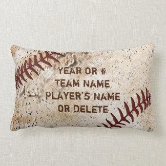 Personalized Baseball Pillow Lumbar, YOUR TEXT