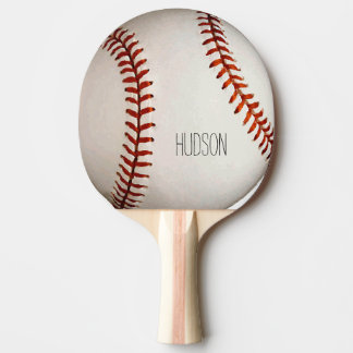 Personalized Baseball Ping Pong Paddle