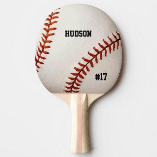 Personalized Baseball Ping Pong Paddle