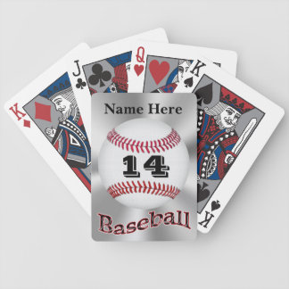 Personalized Baseball Playing Cards for Guys