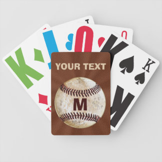 Personalized Baseball Playing Cards for Him