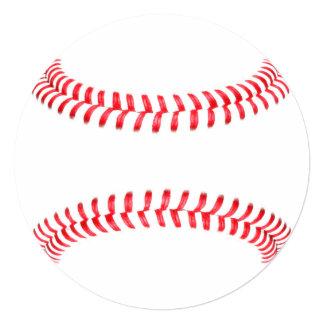 Personalized Baseball Round Stationary Card
