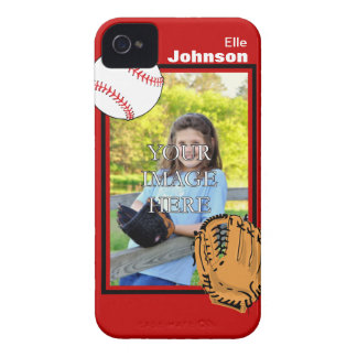Personalized Baseball/Softball iPhone 4/4S Case
